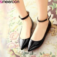 smeeroon 2019 big size 33- 49 women flat shoes pointed toe bu...