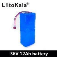 Liitokala 36v 6ah 8ah 10ah 12ah Batteria elettrica batteria costruita in 20A BMS Batteria al litio BATTERIA 36 Volt con la batteria Ebike di carica 2A