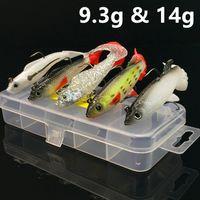 1 Box + 5 modèles 9.3g 14g Jigs pêche crochets 8 # Crochet Hameçons Leurres souples Leurres Peche C-003