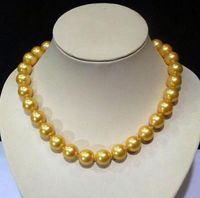 Frete Grátis 14 MM Mar do Sul SHELL PEARL colar 18 polegada whosale jóias de prata Genuína de Casamento