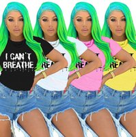Women Clothes I Can' t Breathe Casual Fashion Candy Colo...