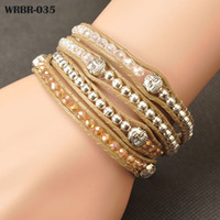 AENINE New Arrival Fashion Handmade Leather Bracelet 4 Rows ...