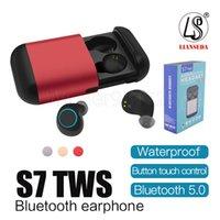 S7 TWS Słuchawki Bezprzewodowe słuchawki Bluetooth Bluetooth 5.0 Stereo Stereo Bezprzewodowe słuchawki Słuchawki z mikrofonem i pudełkiem ładowania