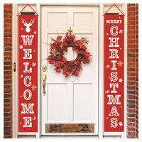 عيد ميلاد سعيد راية الباب شنقا حيوانات الرنة عيد الميلاد الأعلام المعلقة الديكور الستار مقاطع عيد الميلاد LJJA3450-21