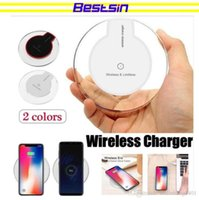 K9 Беспроводной телефон зарядки мобильной мощности Кристалл 5 Вт Ультра тонкое круглое зарядное устройство для iPhone Samsung