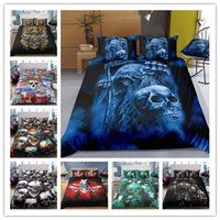 3D Printing horrifying skull Bedding set with pillowcases fo...