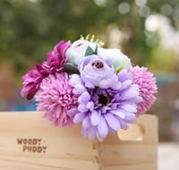 أقحوان الكوبية حزمة الأفريقية نباتات المنزل الديكور مقلد زهرة يده الزفاف عطلة زهرة الأوروبي الجدول زهرة w1154