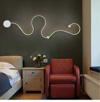 New Postmodern simple creative wall light led bedroom bedsid...