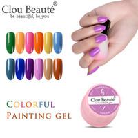 Clou Beaute Boyama Jel Hibrid cilaları Jel Oje Örümcek Çiçek Çizim DIY Üst Base Coat UV / LED Vernik Nail Art Astar