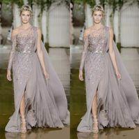 2020 Yüksek Couture Zuhair Murad Abiye Bir Omuz Seksi Yüksek Yan Bölünmüş Ünlü Pageant Törenlerinde Yeni Balo Elbise Custom Made