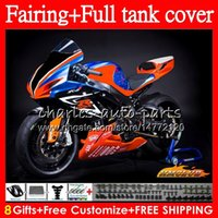 + Réservoir Carénage SUZUKI GSXR600 course orange, GSXR600 GSXR 750 600 CC 73HC.82 600CC 750CC GSX R600 GSXR750 K6 GSXR750 2006 2007 06 07 corps