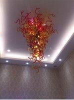 Lujo de la mano de cristal soplado de cristal soplado mano iluminación de la lámpara lámpara de cristal de la venta caliente de la lámpara marroquí soplado a mano lámpara de cristal