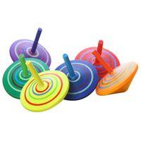 Madeira por atacado Beyblade 4.5 cm De Madeira Lazer Mão Brinquedos Spinne Fidget Spinner para Crianças Clássico Spinning Top