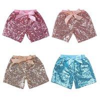 Bébé Filles Sequins Shorts Pantalons Pantalons Casual Pantalon Fashion Bluange Bling Boutique Bow Princesse Shorts Vêtements enfants 11 Couleur FJ463