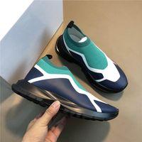 sapatos de corrida novo designer de luxo dos homens malha respirável incrustada imprimir atmosfera moda confortável e moderno size39-44