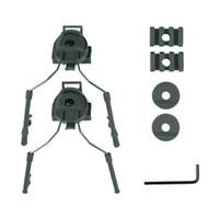 Táctica Casco Peltor sistema de adaptador de auriculares Holder Fast Kit de montaje de Operaciones Core Casco guía de adaptación del carril Paintball 4 colores