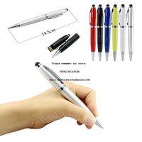 금속 펜 USB 플래시 드라이브 1백28기가바이트 플래시 메모리 스틱 6 색 펜 드라이브 64기가바이트 4기가바이트 8 16 32 기가 Pendrive USB2.0 교사 선물 공을 - 포인트 펜 U 디스크