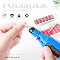 USB 미니 전기 네일 폴리 셔 휴대용 펜 전기 네일 연마 세트 6 색 네일 도구 도매