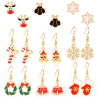 Weihnachtsmann Weihnachts Ohrringe Halloween-Nacht Edelweiss Deer Bell-Ears Zubehör Weihnachtsgeschenke Halloween-Nacht Schöne