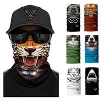 Kaplan Yarım Yüz Maskesi Bisiklet Motosiklet Kayak Şapkalar Boyun Gaiter Bandanas Güneş Rüzgar Geçirmez Sihirli Eşarp Dikişsiz Balaclava