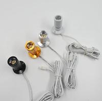 1W 실버 쉘 블랙 쉘 골드 쉘 미니 캐비닛 스포트 라이트 DC12V 백색 LED 또는 RoHS 준수 CE 통 백색 LED 옷장을 따뜻하게