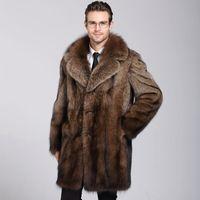 Nuovo cappotto di visone maschio in autunno e inverno del 2018