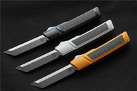 Alta qualità VESPA D2 lama di coltello Ripper, Maniglia: 7075Aluminum + CF, la sopravvivenza all'aperto EDC caccia tattico strumento coltello da cucina la cena
