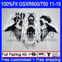 Injection For SUZUKI GSXR 600 750 GSXR750 11 12 13 14 15 16 298HM.8 white stock GSXR-600 K11 GSXR600 2011 2012 2013 2014 2015 2016 Fairing