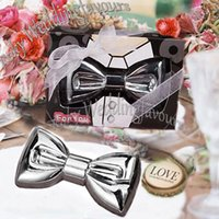 40PCS Chrome Bow Tie Bottle Opener Wine Wedding Favors Event...