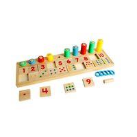 Монтессори Деревянные Цифровые Соответствия Строительные Блоки Детские РазвивающиеГеометрические Сборки Соответствующие Когнитивные Блоки Игрушки