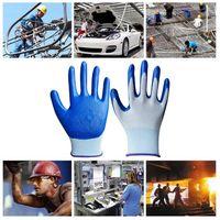 CDT износостойкие противоскользящие 13 калибра трикотажные Белый нейлон с покрытием синий нитрил безопасности рабочие перчатки PU пальмовое покрытие руки защитить перчатки