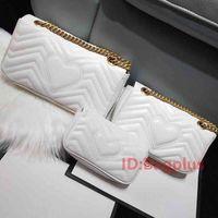 3 الحجم مصمم عالية الجودة المرأة أزياء العلامة التجارية الفاخرة MARMONT حقائب جلدية حقيقية حقيبة يد المحافظ حقيبة الظهر حقائب الكتف