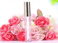 250pcs 10ML Mini round lip gloss tube cosmetic package lip gloss bottle empty container with gold cap new