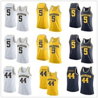 Michigan Wolverines College Jaaron Simmons Jalen Rose # 5 Jaron Faulds # 44 Jerseys de basquete Mens costurado personalizado qualquer nome Nome