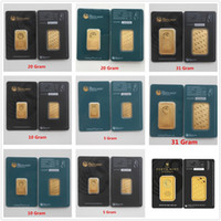Australien der Perth Mint Green Black 1 Unze / 20g / 10g / 5g Gold Bar Bullion Goldcoins Sammlung