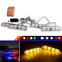YTCLIN 4x4 LED 12V DRL Ambulance Licht Strobe Warnlicht 4 in 1 drahtloser Fern Auto-LKW-Blitzen-Feuerwehrmänner