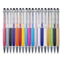 Metallic Crystal Pen Büro Schreibwaren Schulbedarf Stift Handwriting Kapazität Diamant Bleistift Touchscreen Ball Point