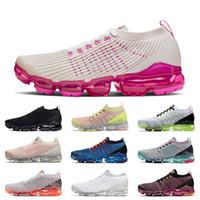 Nike Air Vapormax Flyknit 3.0 Mode Desinger Vamaxpor Femmes Chaussures de course ROSE RISE Alunissage Triple Laser Hommes Or blanc pur Noir Baskets Chaussures de sport