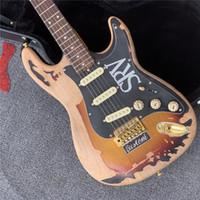 Ücretsiz kargo nadir 1961 ro Gallagher Tribute St Strat ocaster Ağır Relic 3 Ton Sunburst Elektro Gitar Alder Vücut Yaşlı Pickguard Tremol