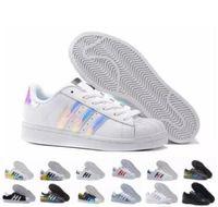 sports shoes 5adf8 81bf9 Hot 2018 moda hombre zapatos casuales Superstar smith stan zapatos planos  de mujer Zapatillas Deportivas Mujer