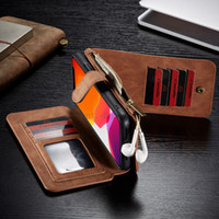 Multifunctional Cell Phone Leather Cover Retro Zipper Wallet...