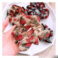 Multi Luxus Lady Mädchen Haar Scrunchy Ring elastische Haar-Bänder reine Farben-Blumen-Plaid Dickdarm Sport Tanz Scrunchie Haarreif