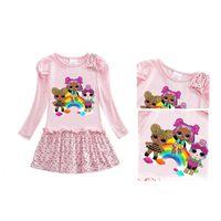ins neonate Abiti per Halloween Party vestiti della bambola del fumetto a maniche lunghe abito principessa Dress Kids Designer Skirt vestiti di autunno