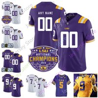 Louisiana State LSU Tiger-Fußball Jersey NCAA 2020 Patch-College-Thaddeus Moss Patrick Peterson Delpit Adams Chase Curry Guice Kanone