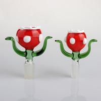 우리의 색깔 식민지 꽃 머리 유리 그릇 14mm 18mm 남성 식물 식물 유리 봉 그릇 조각 흡연 액세서리 DAB 조작 물 파이프