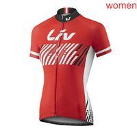 LIV equipo ciclismo manga corta jersey verano de manga corta de manga corta, secado rápido transpirable, a prueba de viento, a prueba de viento, ropa de bicicleta 72902