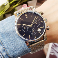 Top Famous design Fashion Men Big Watch Oro argento Assorbimento magnetico di alta qualità maschile orologi al quarzo 2019 uomo da polso business class