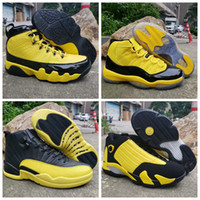 2019 Mens 9 11 12 14 Basketball Shoes Bumblebee Yellow Black...