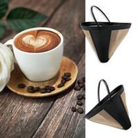 Kolay Temiz Yıkanabilir Yeniden kullanılabilir Daimi Kahve Filtre Koni Şekli 10-12 Kupa Altın PP + naylon Güzel Örgü Kahve Makinesi Makinası