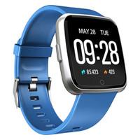 Y7 الذكية ووتش اللياقة البدنية تعقب القلب رصد معدل ضغط الدم النساء الرجال ساعة ساعة ذكية ماء شحن مجاني